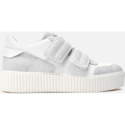MM6 Maison Margiela Women's Double Velcro Flatform Trainers - White/White/White