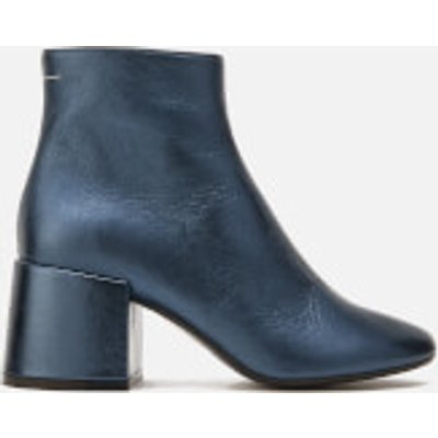 MM6 Maison Margiela Women's Heeled Ankle Boots - Blue