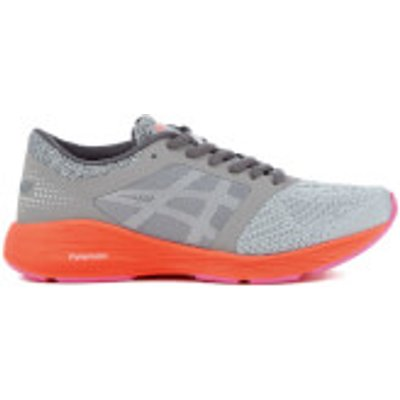 Asics Women's Roadhawk FF Trainers - Carbon/Silver/Flash Coral - UK 7 - Grey