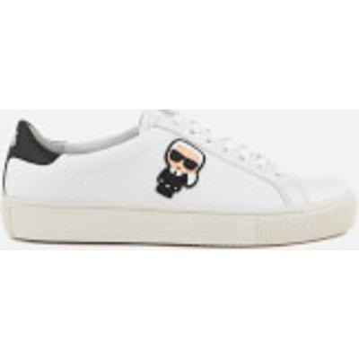 Karl Lagerfeld Women's Kupsole Leather Karl Ikonik Trainers - White - UK 5 - White