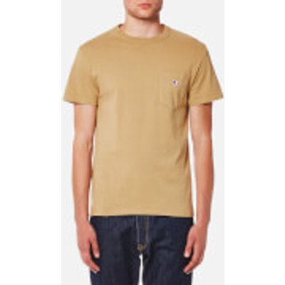Maison Kitsune Men's Tricolor Fox Patch T-Shirt - Camel