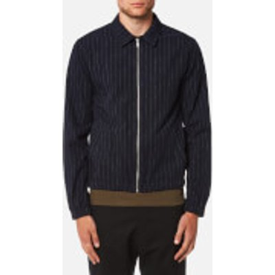 Folk Men's Pinstripe Zip Up Blouson - Navy Pinstripe