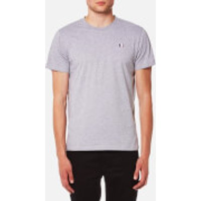 AMI Men's Small Chest Logo Crew Neck T-Shirt - Heather Grey