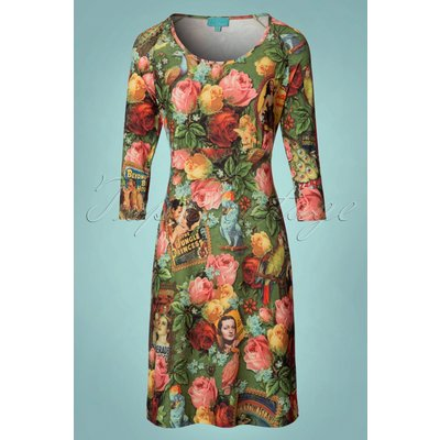 60s Dorothy Dressy Dress in Lalamour Green