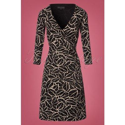 60s Maple 3/4 Sleeves Cross Dress in Black