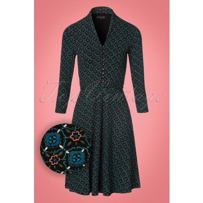 70s Emmy Feria Dress in Black
