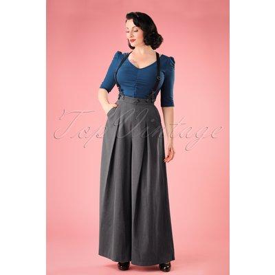 40s Khloe Trousers in Grey