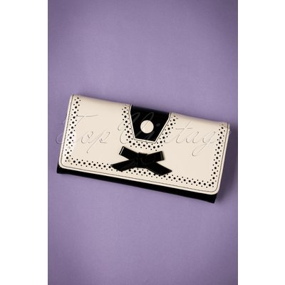 50s Rosemary's Wallet in Black and Cream