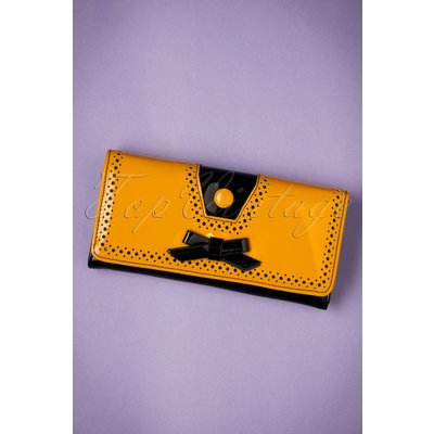 50s Rosemary's Wallet in Black and Mustard