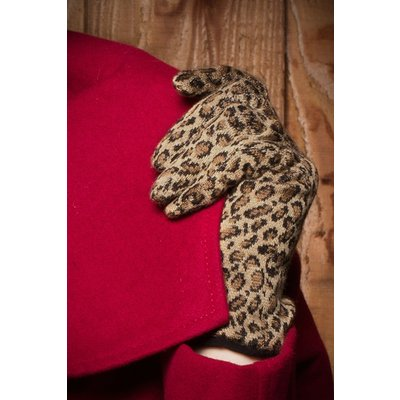 50s Retro Leopard Gloves