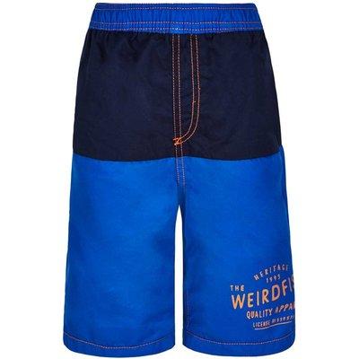 Weird Fish Seeker Panelled Boy's Boardshort Royal Blue Size 7-8