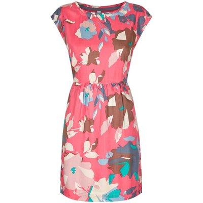 Weird Fish Minnihaha Printed Lightweight Dress Hot Pink Size 18