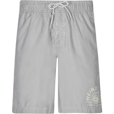 Weird Fish Soundwave Piped Board Short Gunmetal Size 40
