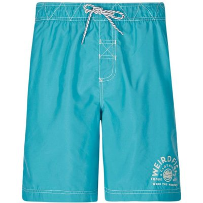 Weird Fish Soundwave Piped Board Short Ocean Blue Size 38