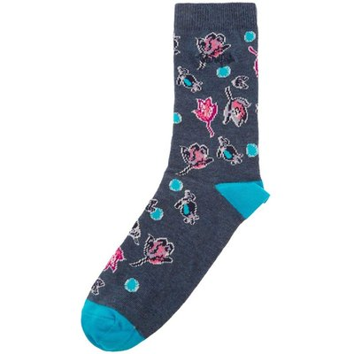 Weird Fish Huron Printed Sock Sloeberry Size 4-7