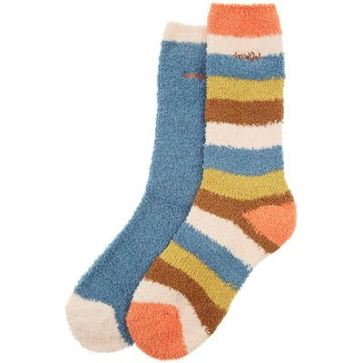 Weird Fish Park Fluffy Sock 2-Pack Bluebird Size 4-7