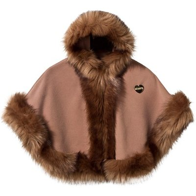 Camel Faux Fur Cape