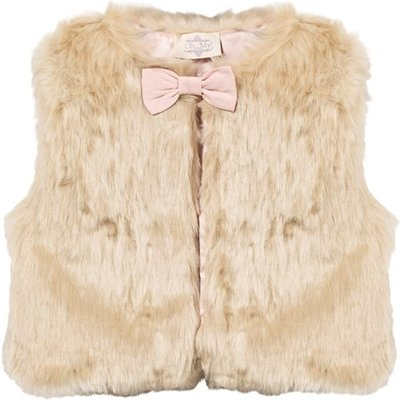 Faux Fur Gilet with Bow