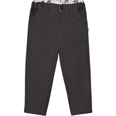 Charcoal Lined Cotton Canvas Trousers