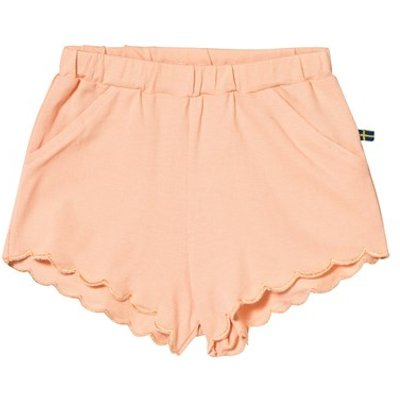 Peach Scalloped Shorts