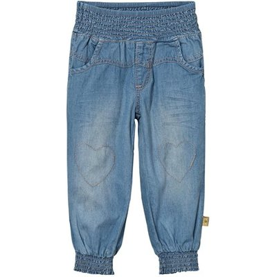Baggy Washed Denim Trousers