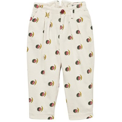 White Fruit Print Beaver Pants