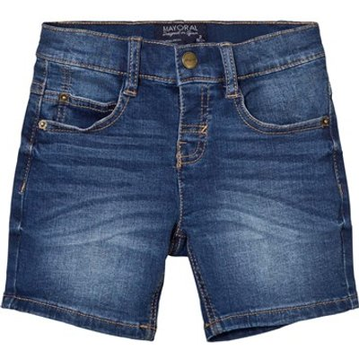 Blue Mid Wash Denim Shorts