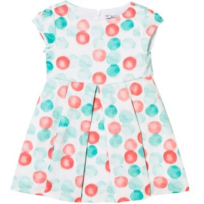 Mint and Coral Spot Party Dress
