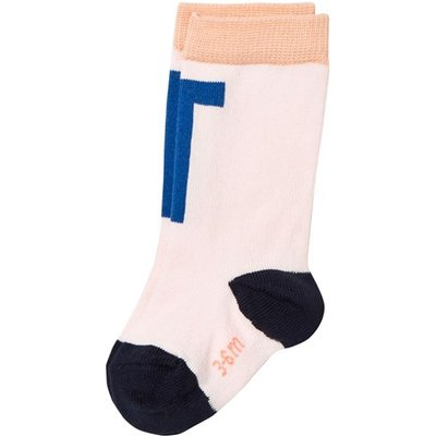 Pale Pink and Blue T Socks