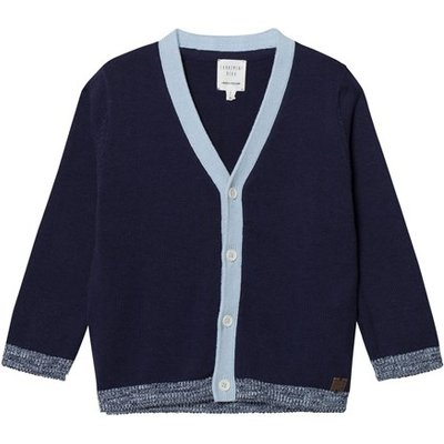 Navy and Blue Cotton Cardigan