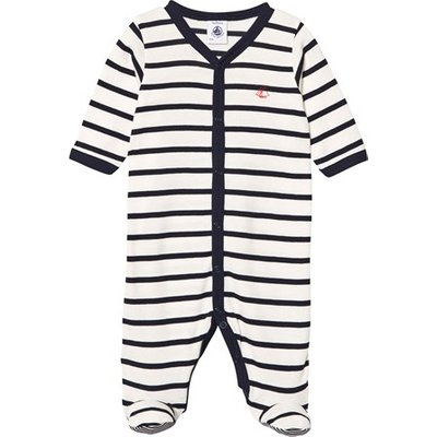 Navy and White Stripe Babygrow