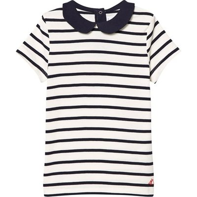 Navy and White Peter Pan Top