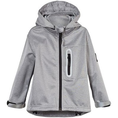 Grey Melange Cloudy Soft Shell Jacket
