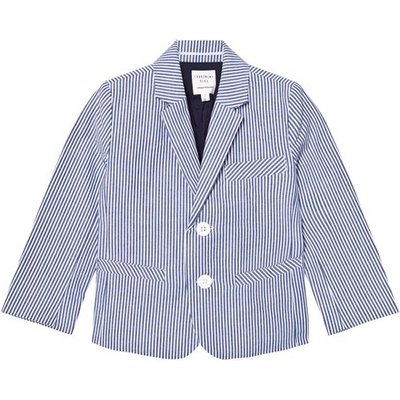Blue and White Stripe Cotton Jacket