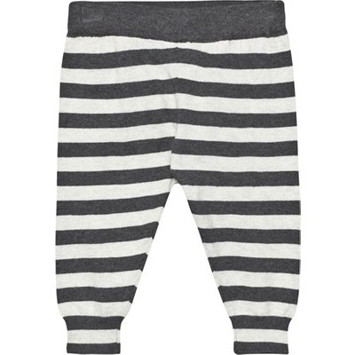 Monochrome Stripe Lightweight Knitted Trousers
