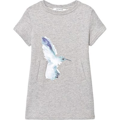 Grey Melange Basic Hummingbird Dress