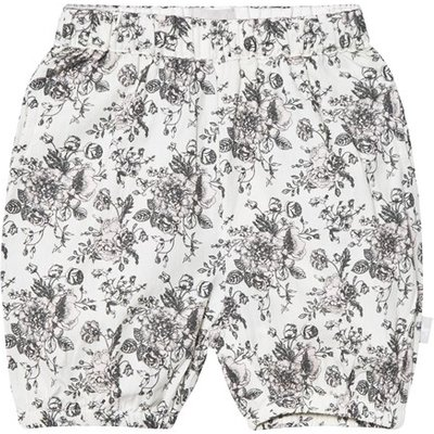Cream Floral Pull Up Shorts