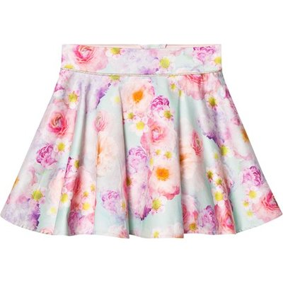 Blue and Pink Gilded Rose Skirt