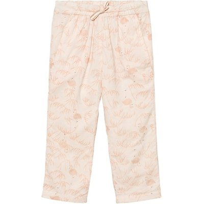 Pink Tint Mini Voile Printed Trousers