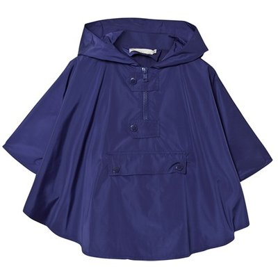 Blue Raincoat Cape with Frog Hood