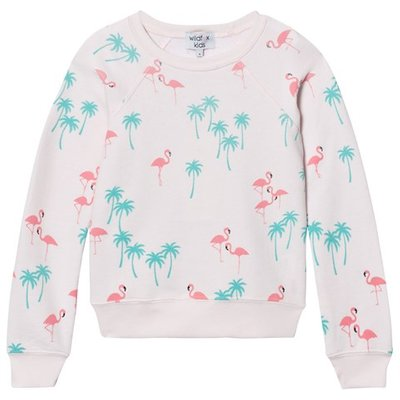 Pink All Over Flamingo Print Sweater