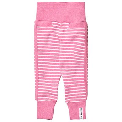 Pink Melange and White Baby Pants