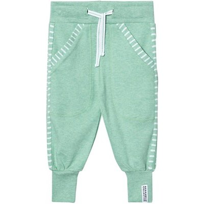 Green Melange Long Pants