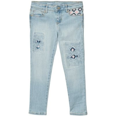 High Stretch Light Denim Embroidery Super Skinny Jeans