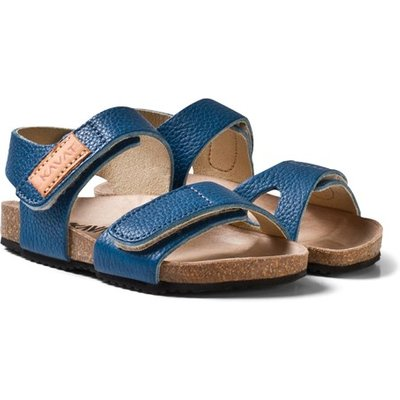 Blue 2-Strap Leather Sandals