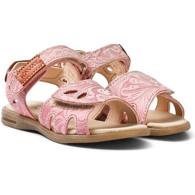 Embossed Coral Sandals