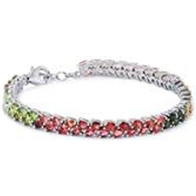 Rainbow Tourmaline Bracelet  in Sterling Silver 10.05cts