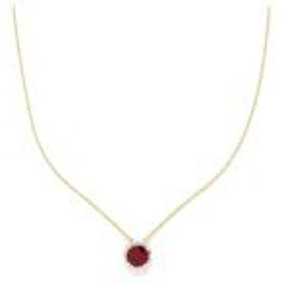Thai Ruby & Diamond Gold Vermeil Pendant Necklace ATGW 3.23cts (F)
