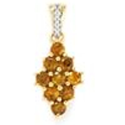 Ambilobe Sphene Pendant with Diamond in 9K Gold 1.09cts