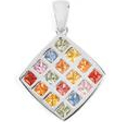 Rainbow Sapphire Pendant in Sterling Silver 1.48cts
